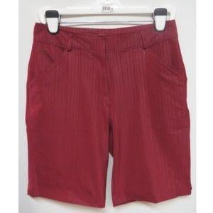 Nike Golf Fit Dry Maroon Stripe Bermuda Shorts 8